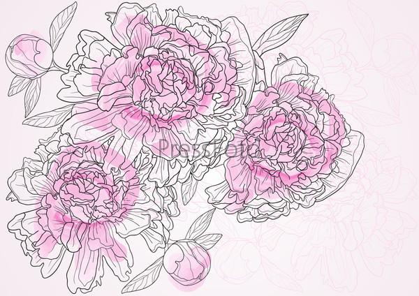 Фотография на тему Нарисованные розы