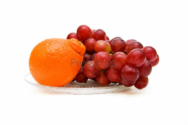 Ripe and fresh fruit closeup on white background
