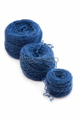 Blue Yarn close up