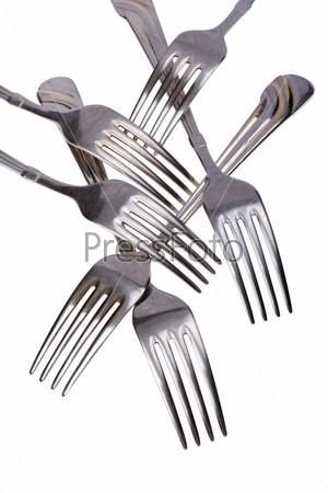 Set of fork close up