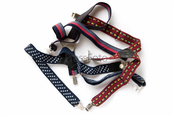 Set suspenders on white