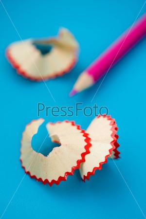 pencil shavings close up