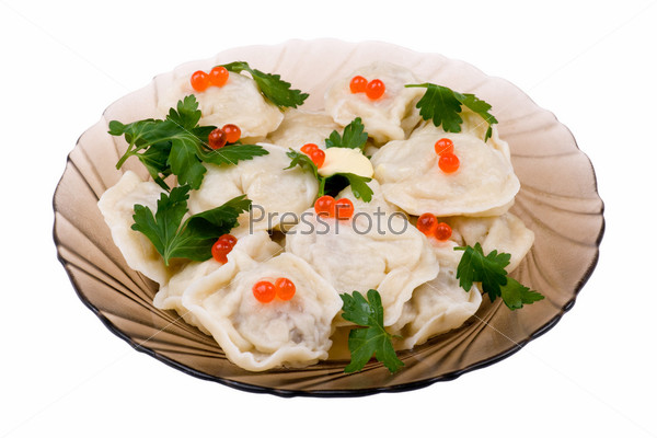 pelmeni with caviar