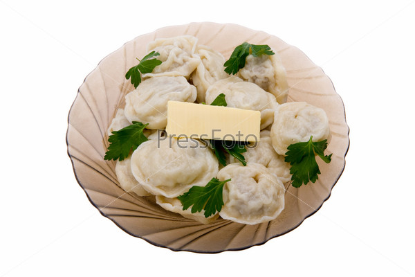 pelmeni with butter