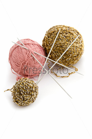 sewing Yarn on white