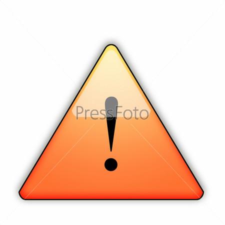 Треугольник знаком восклицательным м52 желтый с