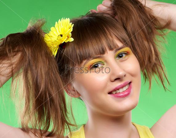 Лица девушек с хвостиками фото 670-97
