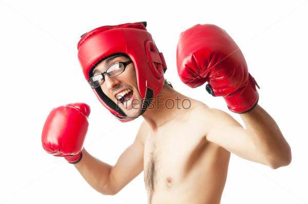 Фото худой боксер в боксерских перчатках фото 611-882