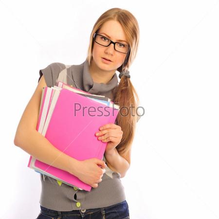 Студентка в очках