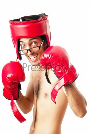 Фото худой боксер в боксерских перчатках фото 611-488