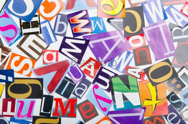 шрифт - вырезанные буквы из газет