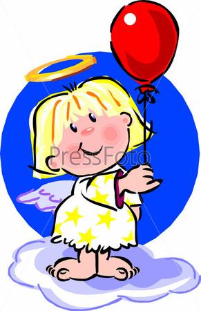 картинка ангел с шариком своей сестре