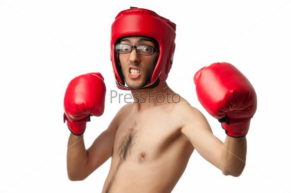Фото худой боксер в боксерских перчатках фото 611-540
