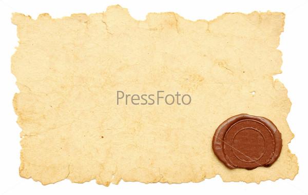 печать на старой бумаге поселок Агой