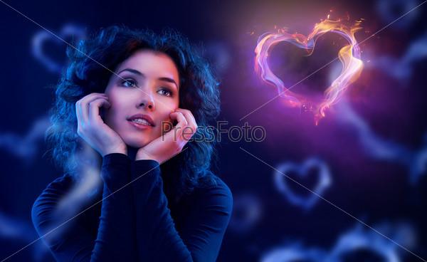 девушка влюбленная фото