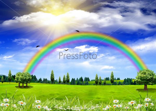 самая красивая радуга в мире фото