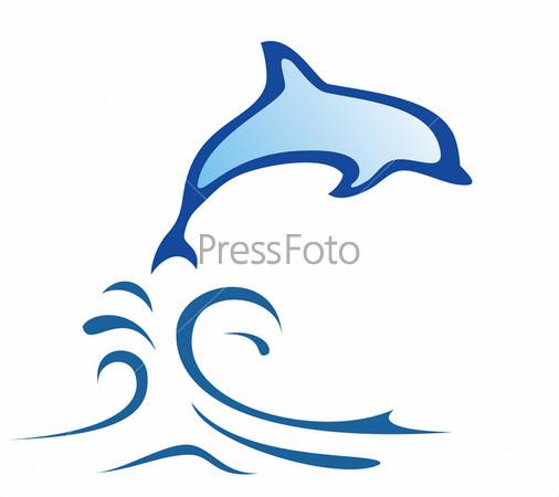 нарисованные дельфины картинки