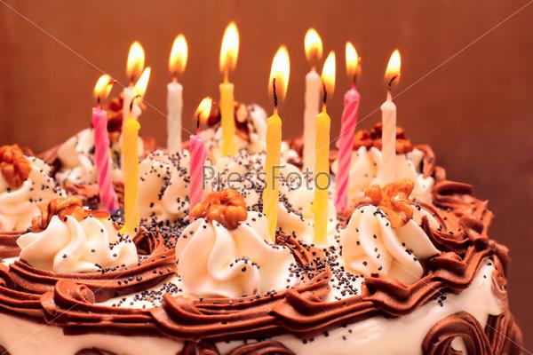 фотографии красивого торта со свечами