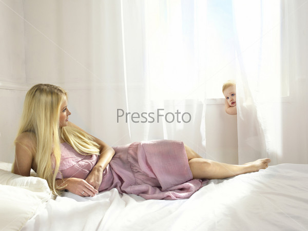 ретро спящую маму