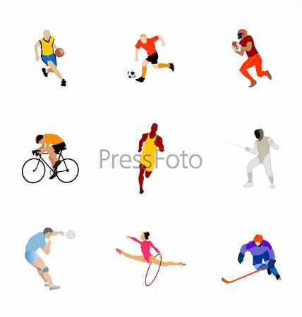 нарисованные картинки спортсменов