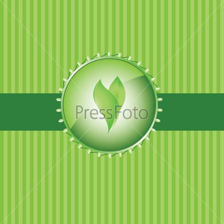 Зеленый экологический фон
