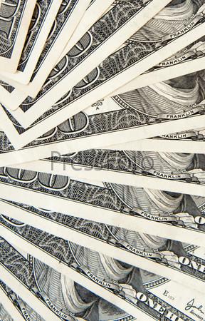 Доллары в качестве фона