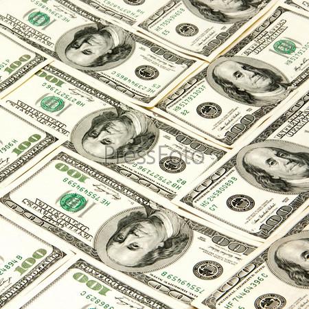 Фотография на тему Доллары в качестве фона