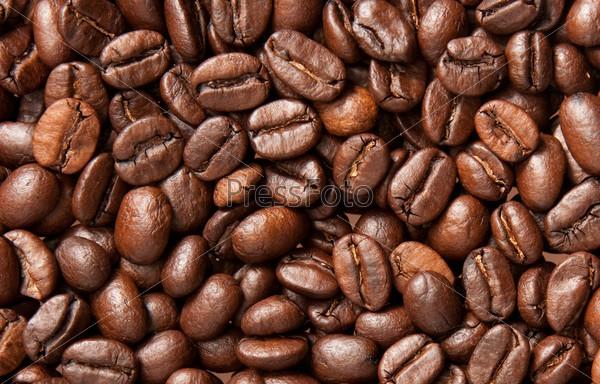 Фотография на тему Коричневый кофе крупным планом