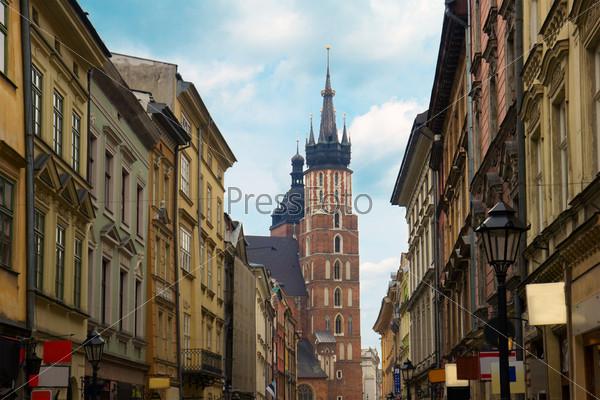 Улица Флорианская в Старом городе, Краков, Польша