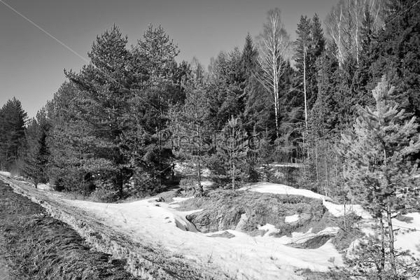 Фотография на тему Черно-белый пейзаж