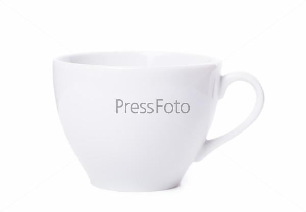 Фотография на тему Белая чашка на белом фоне