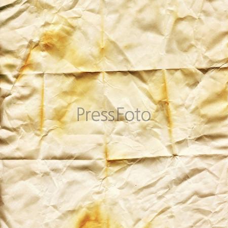 Поверхность мятой грязной бумаги