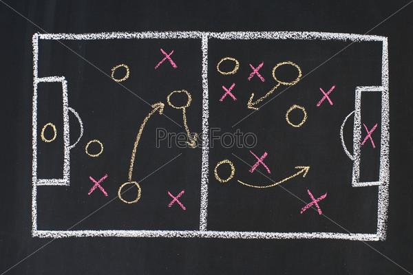 Схема спортивной стратегии на доске
