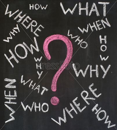 Фотография на тему Часто задаваемые вопросы, написанные от руки на доске