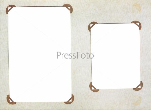 Фотография на тему Старая страница из фотоальбома с фоторамками