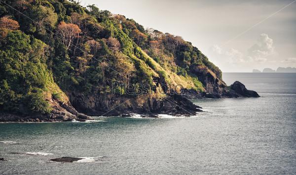 Остров Кох Ланта. вид с воздуха. Андаманское море, Таиланд