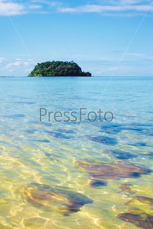 Тропический пляж Кох Либонг, Андаманское море, Таиланд