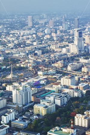 Бангкок, вид с воздуха на закате, Таиланд