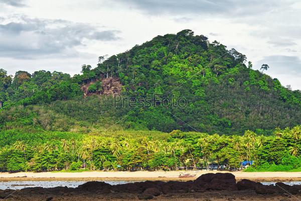 Андаманское побережье во время отлива, Кох Либонг, Таиланд