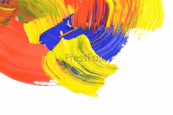 Абстрактные мазки краски на белом фоне
