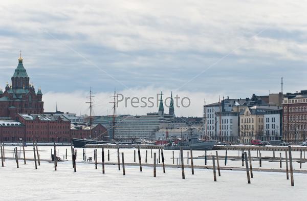 Вид православной церкви в Хельсинки