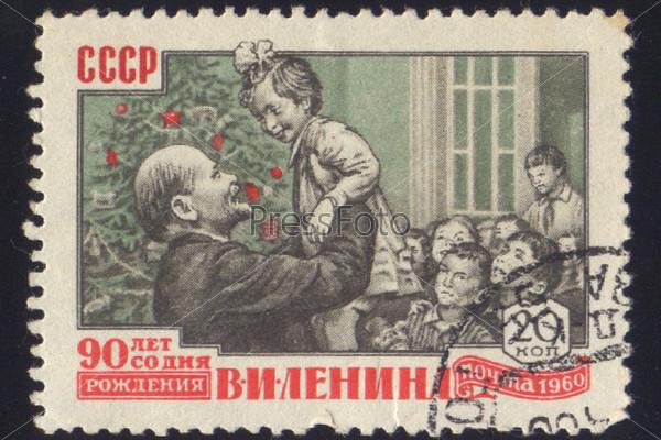 Фотография на тему Почтовая марка СССР 1960 года с портретом В.И. Ленина