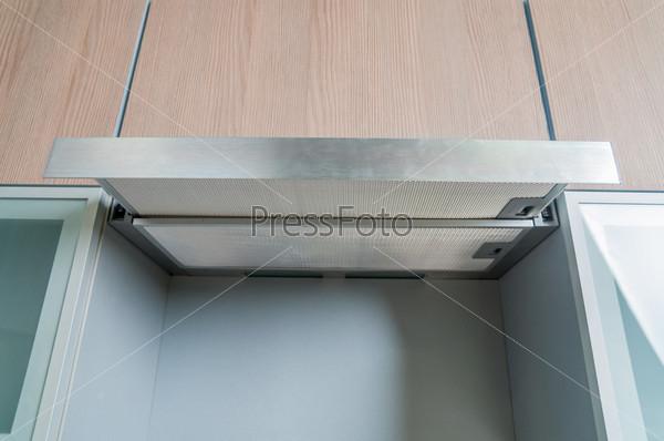Фотография на тему Воздухоочиститель, деталь современной кухни