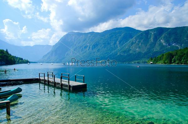 Прекрасный вид Бохинского озера. Словения