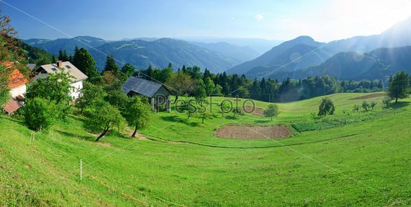 Фотография на тему Панорама. Высокие горы Татры в Словакии