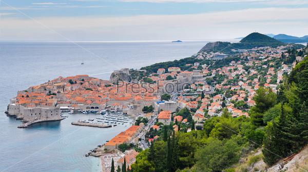 Фотография на тему Панорама Старого города Дубровника в Хорватии