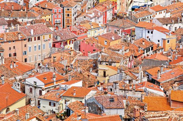 Панорамный вид на город Ровинь в Хорватии