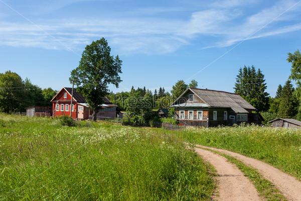 Российская деревня летом