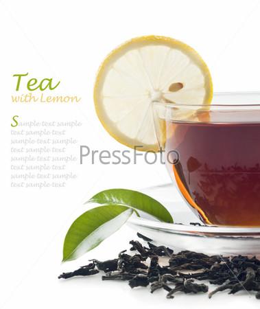 Фотография на тему Горячий чай с лимоном