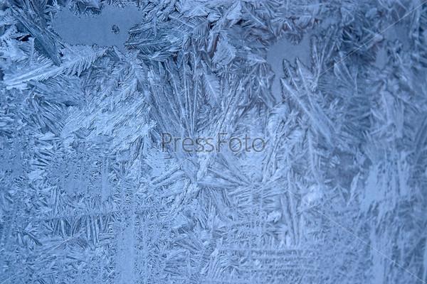 Фотография на тему Морозный рисунок на оконном стекле